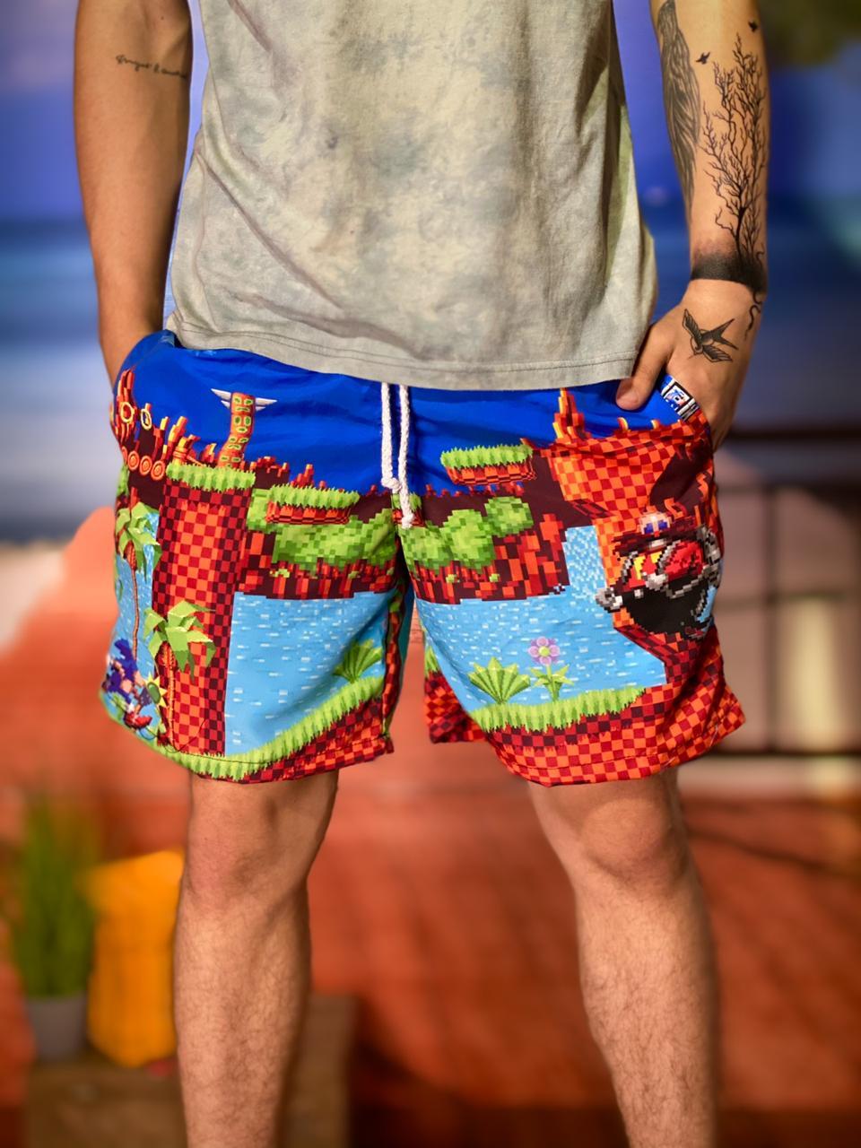 Bermuda (Shorts Praia) Sonic vs Dr. Eggman: Sonic the Hedgehog - EV