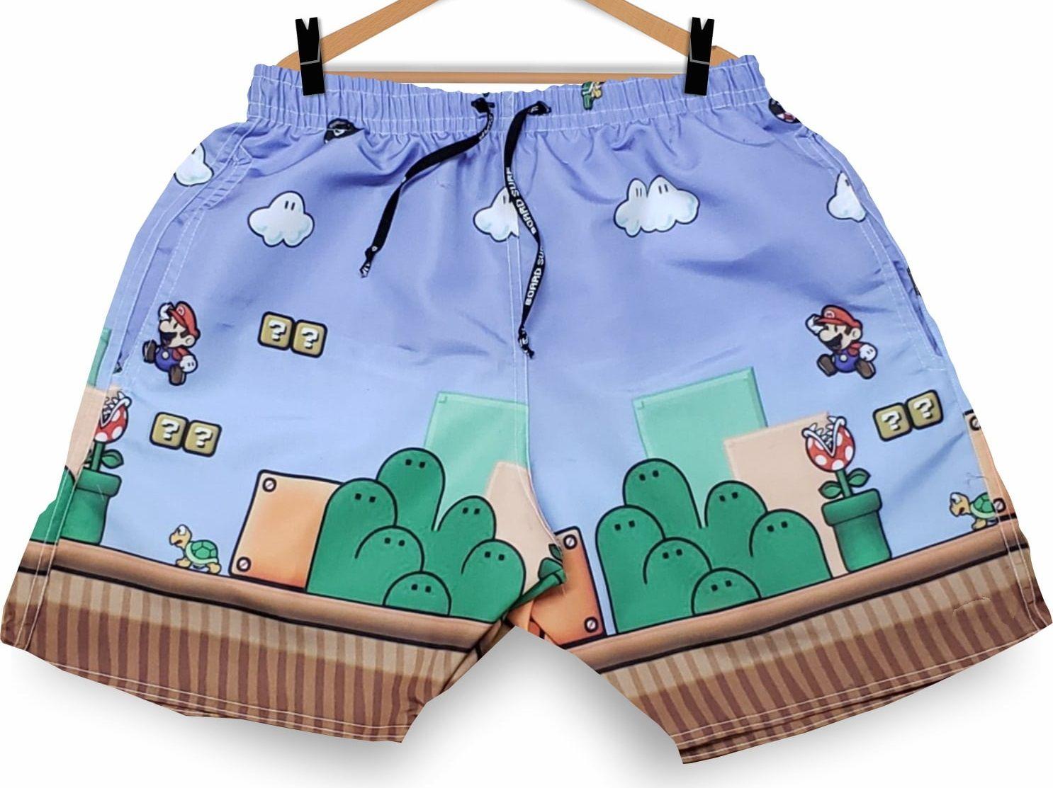 Bermuda (Shorts Praia) Super Mario Bros