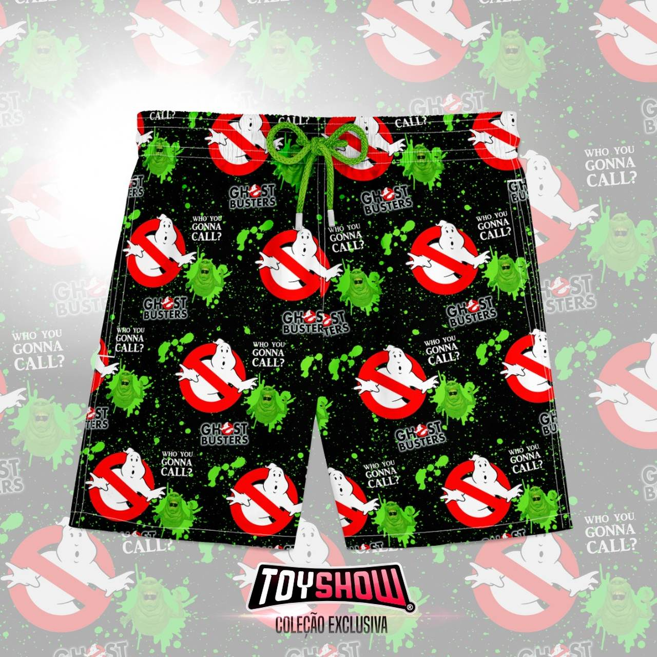 Bermuda (Shorts Praia) Who You Gonna Call?: Os Caça Fantasmas (Ghostbusters)
