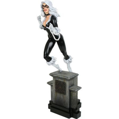 Black Cat Polysone Retro Statue - Bowen Designs