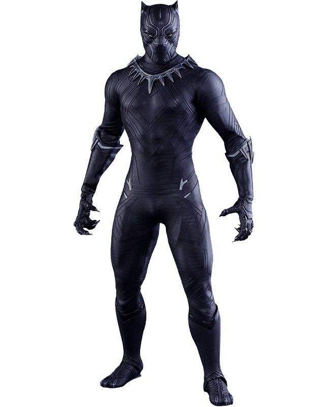 Action Figure Pantera Negra (Black Panther): Capitão América: Guerra Civil Escala 1/6 MMS363 - Hot Toys