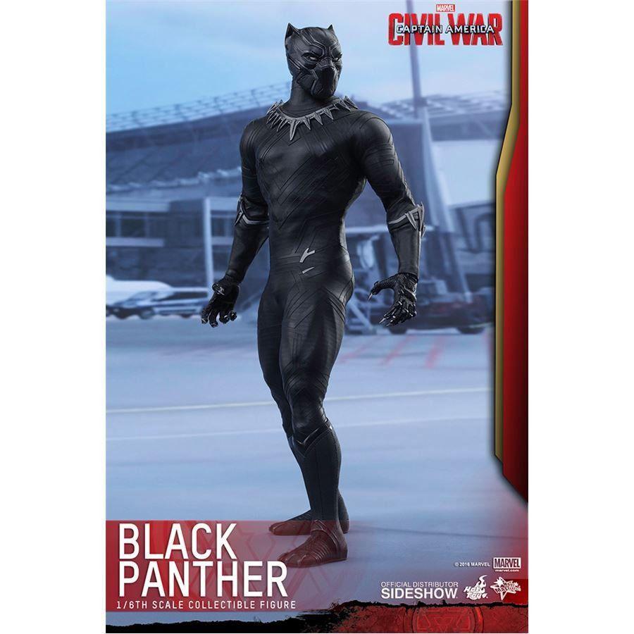 Boneco Pantera Negra (Black Panther): Capitão América: Guerra Civil Escala 1/6 - Hot Toys
