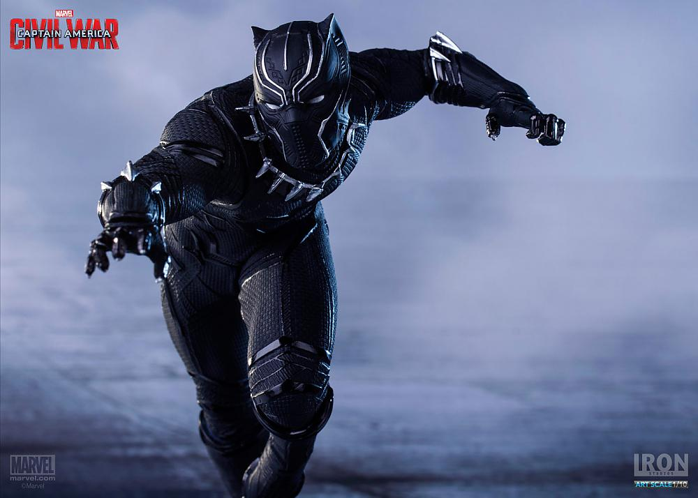 Guerra Civil: Black Panther (Pantera Negra) Escala 1/10 - Iron Studios