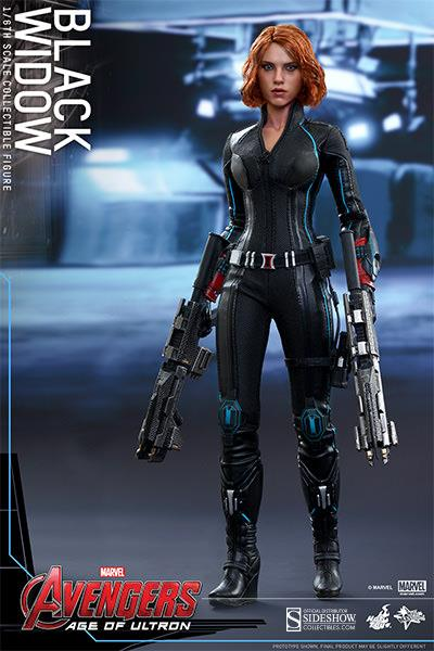 Action Figure Viúva Negra (Black Widow) Vingadores Era de Ultron (Avengers Age of Ultron) Escala 1/6 (MMS288) - Hot Toys (USADO E SEM CAIXA -Roupa Descamando))