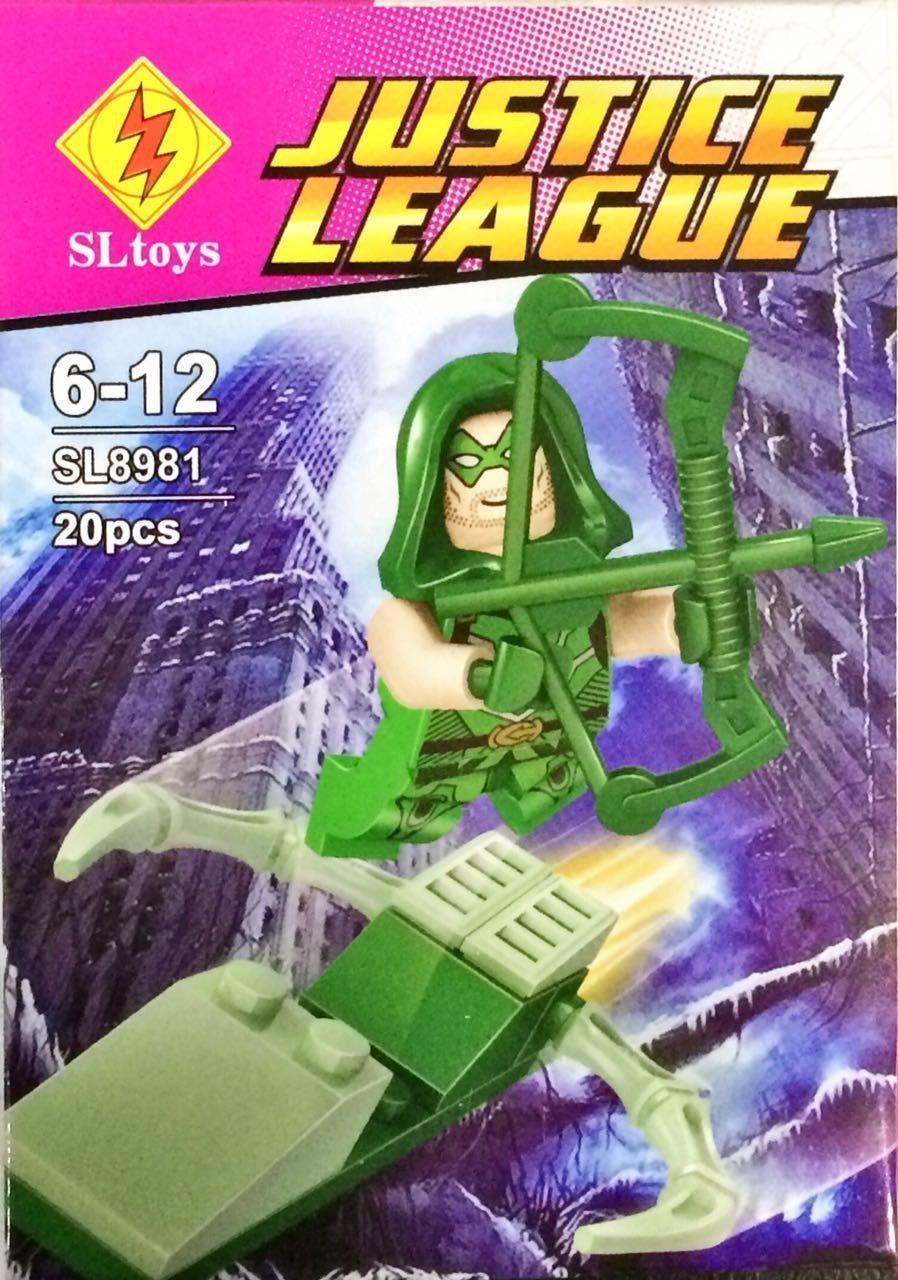 Bloco de Montar Arqueiro Verde: Justice League (SL8981) - (20 Peças)