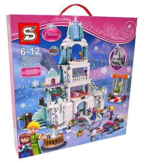 Bloco de Montar Castelo Princesas: Frozen  - (767 Peças)