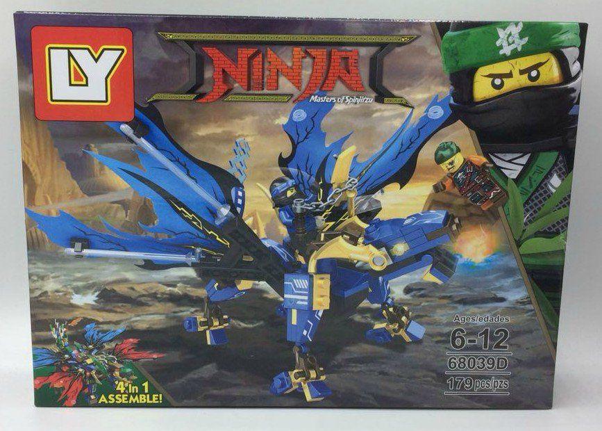 Bloco de Montar Dragão Ninja Azul - 179 pçs