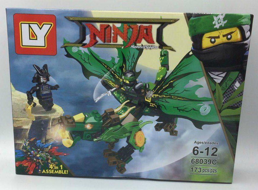 Bloco de Montar Dragão Ninja Verde - 173 pçs