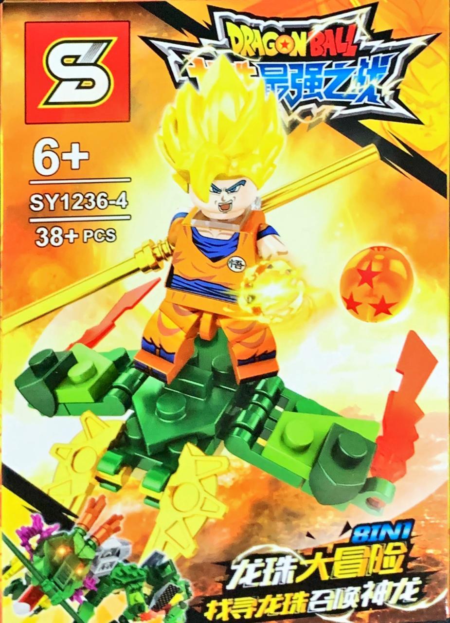 Bloco de Montar Dragon Ball: Goku Super Sayajin (SY1236-4) - (38 Peças)
