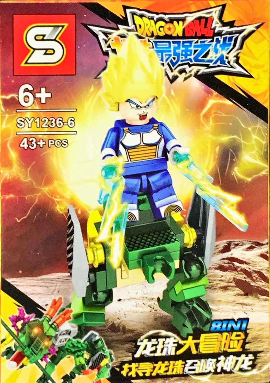 Bloco de Montar Dragon Ball: Vegeta Super Sayajin (SY1236-6) - (43 Peças)