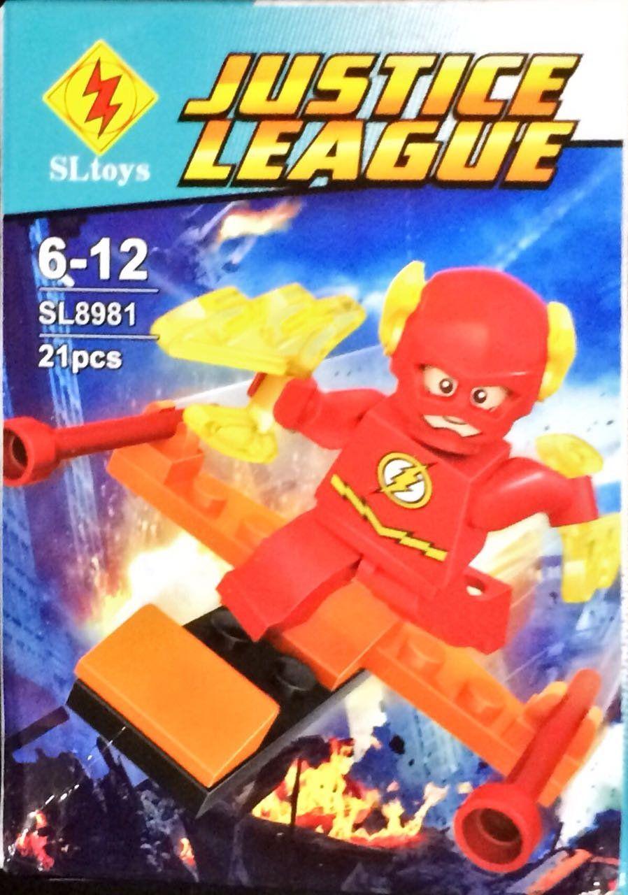 Bloco de Montar Flash: Justice League (SL8981) - (21 Peças)