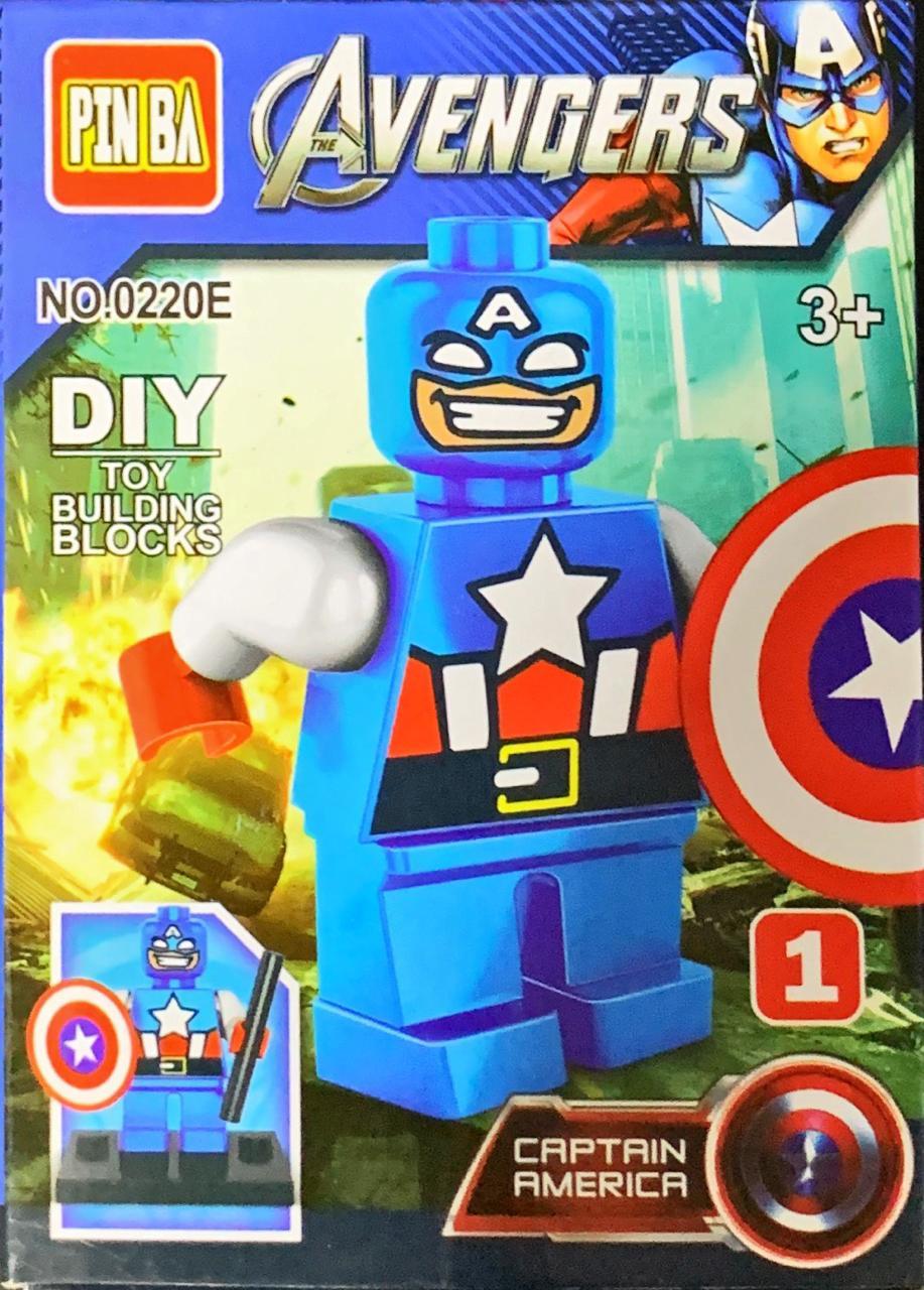 Bloco de Montar Heroes Assemble: Capitão América (0220E)