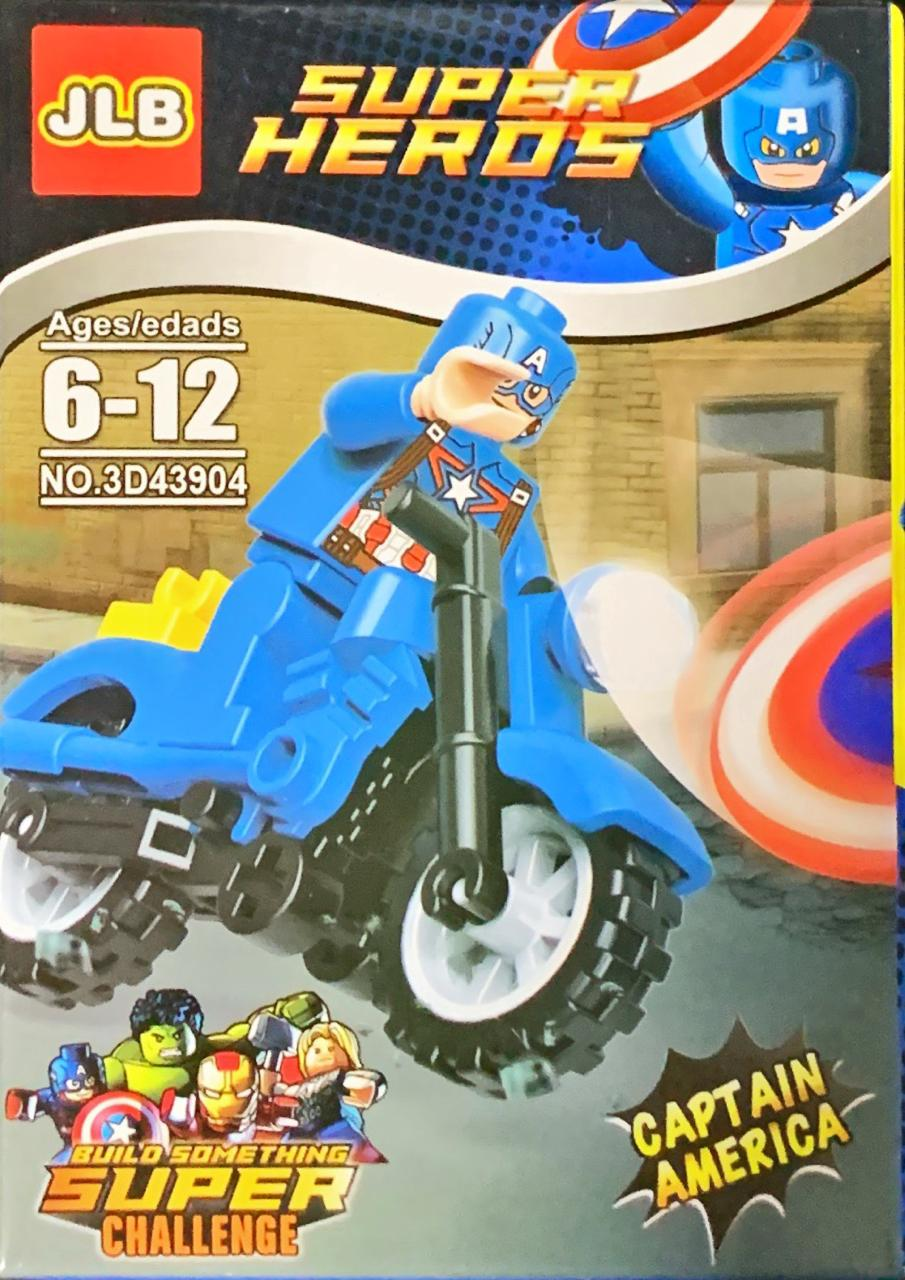 Bloco de Montar Heroes Assemble: Capitão América (3D43904)