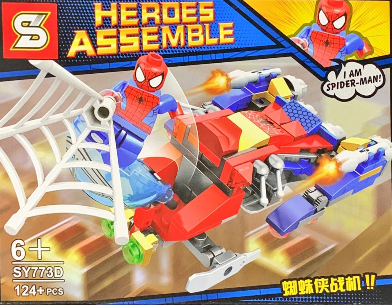 Bloco de Montar Heroes Assemble: Homem Aranha (SY773D) - (124 Peças)
