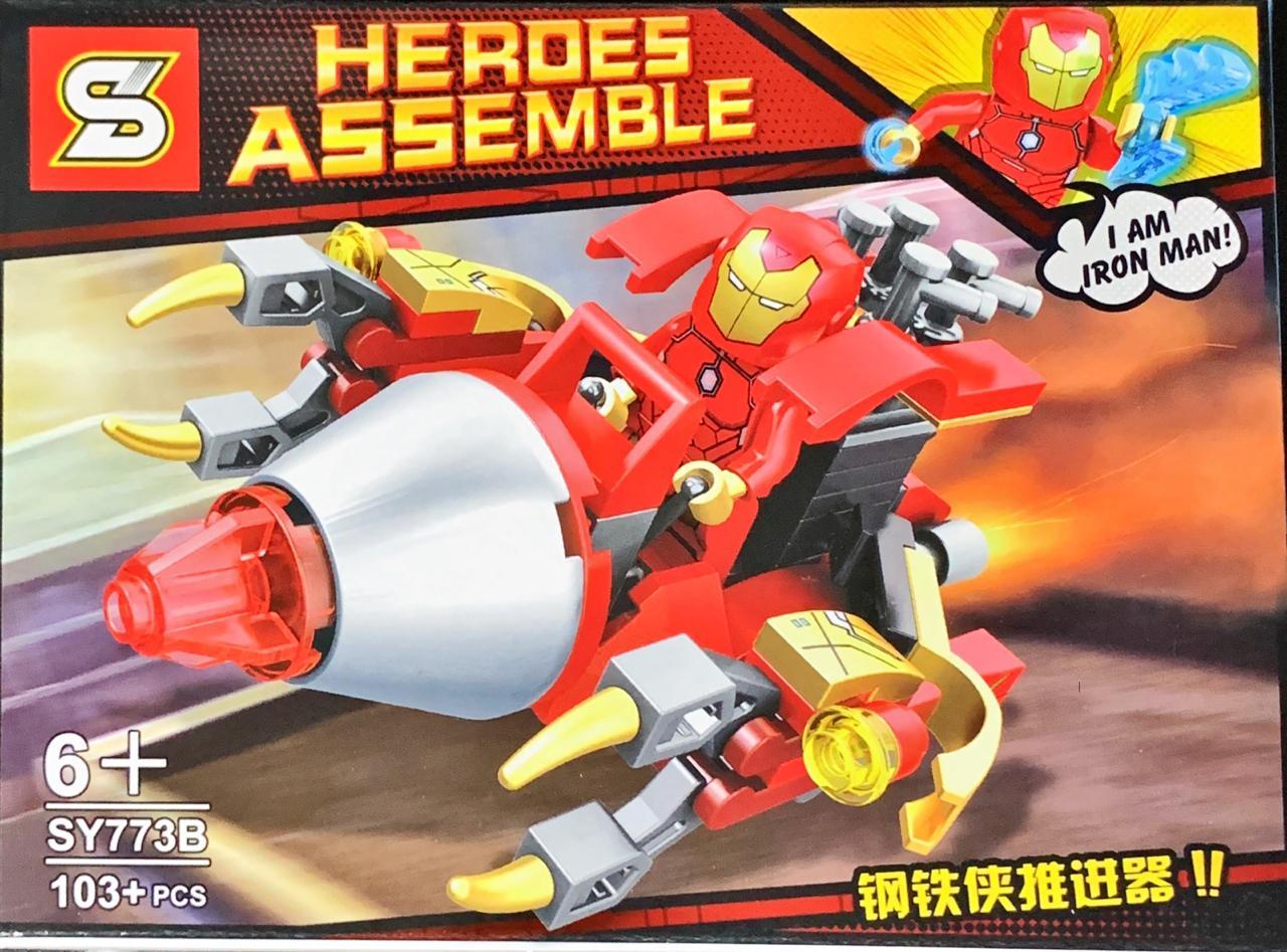 Bloco de Montar Heroes Assemble: Homem de Ferro (SY773B) - (103 Peças)