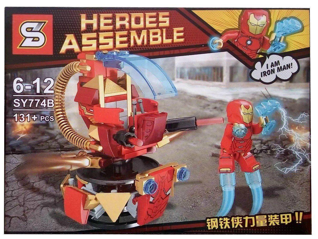 Bloco de Montar Heroes Assemble: Homem de Ferro (SY774B) - (131 Peças)