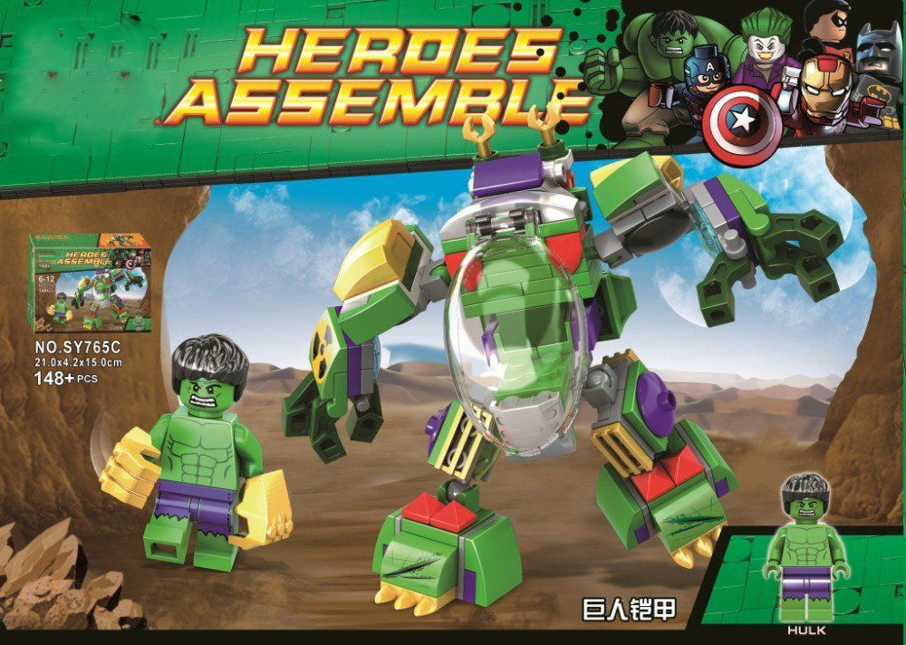 Bloco de Montar Heroes Assemble: Hulk (SY765C) - (148 Peças)