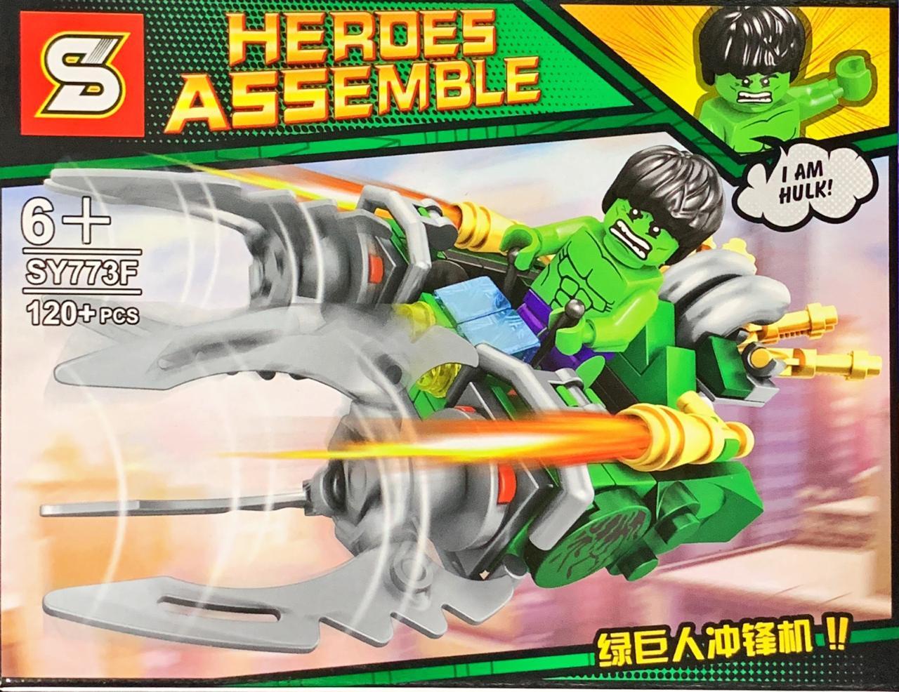 Bloco de Montar Heroes Assemble: Hulk (SY773F) - (120 Peças)