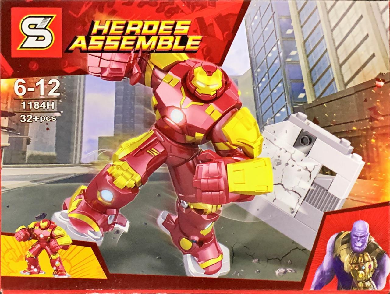 Bloco de Montar Heroes Assemble: Hulkbuster (1184H) - (58 Peças)