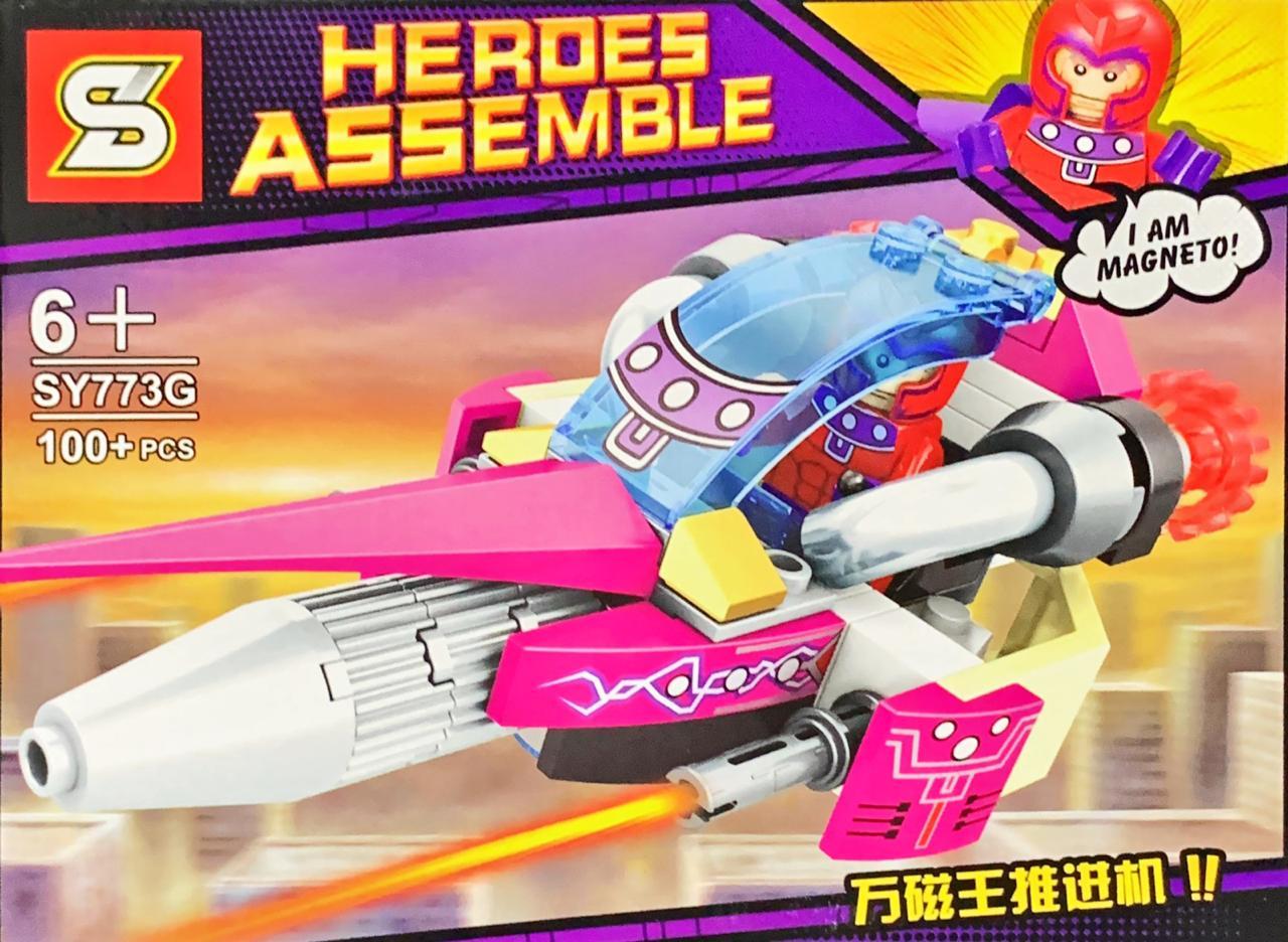 Bloco de Montar Heroes Assemble: Magneto (SY773G) - (100 Peças)