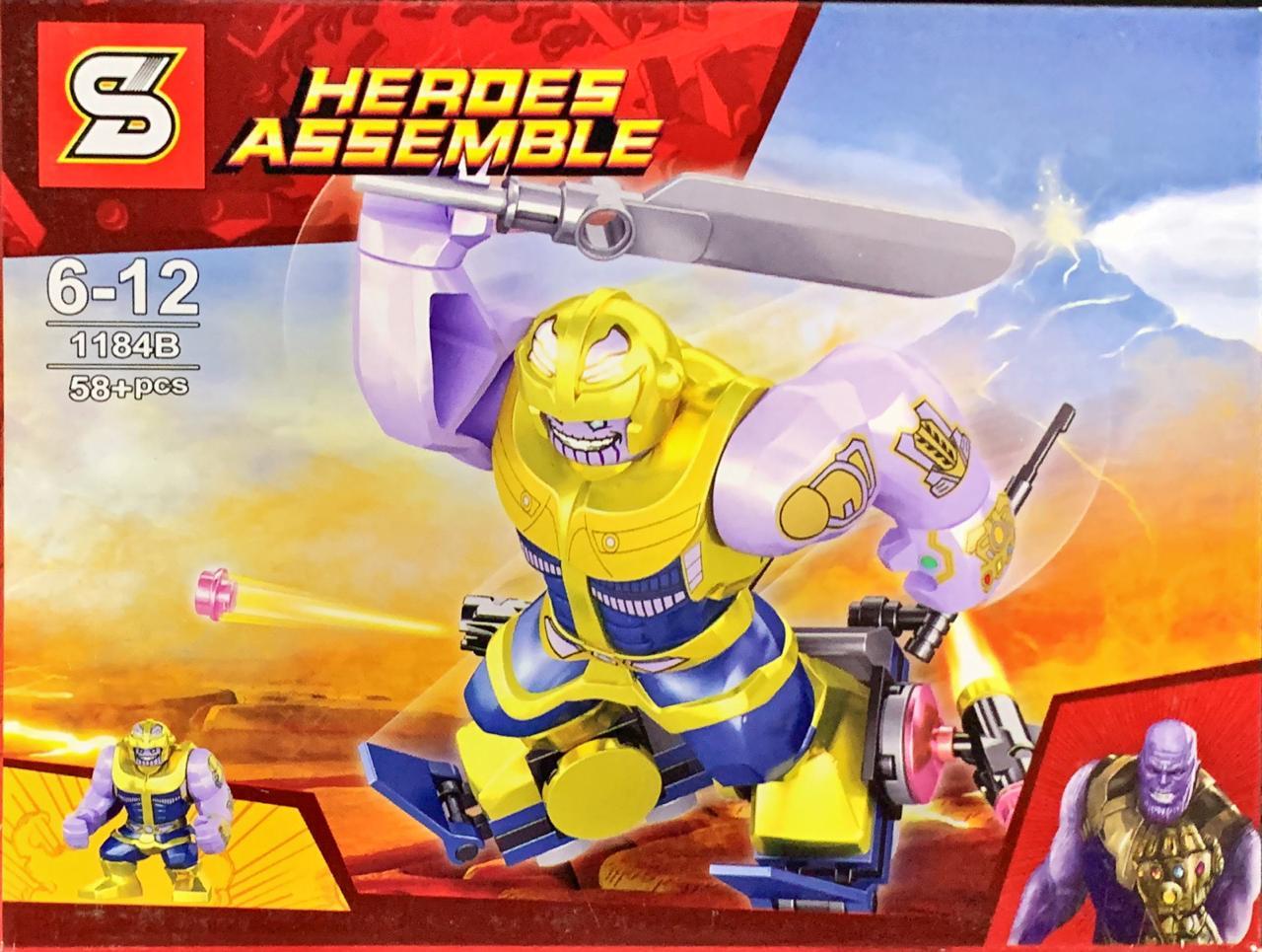 Bloco de Montar Heroes Assemble: Thanos (1184B) - (58 Peças)