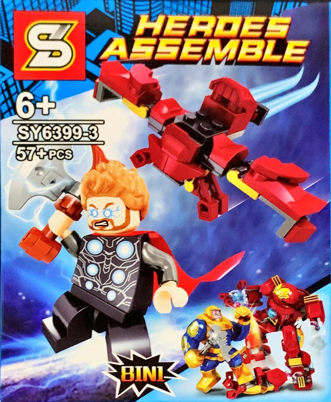 Bloco de Montar Heroes Assemble: Thor (SY6399-3) - (57 Peças)