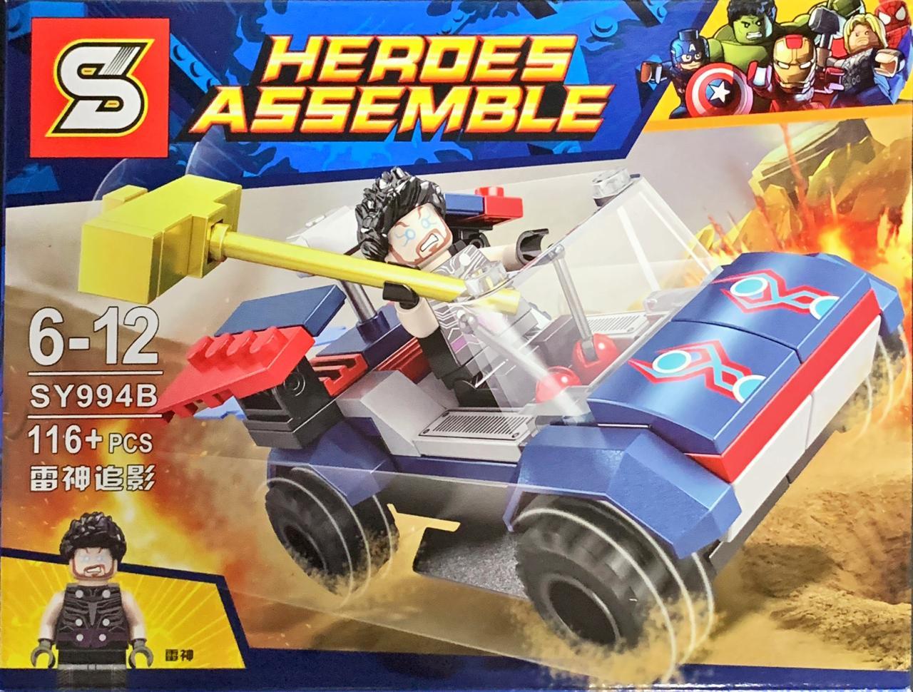 Bloco de Montar Heroes Assemble: Thor (SY994B) - (116 Peças)