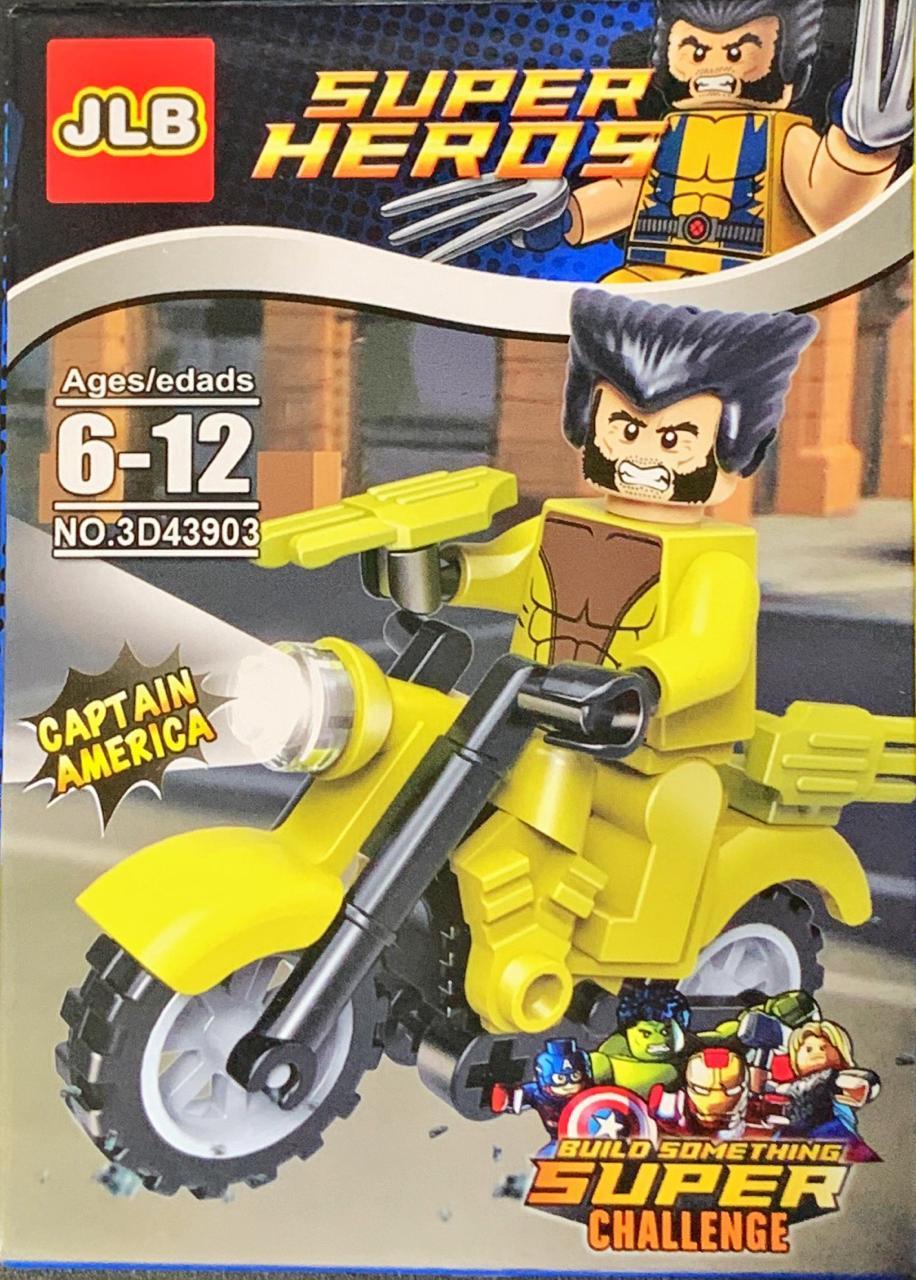 Bloco de Montar Heroes Assemble: Wolverine (3D43903)