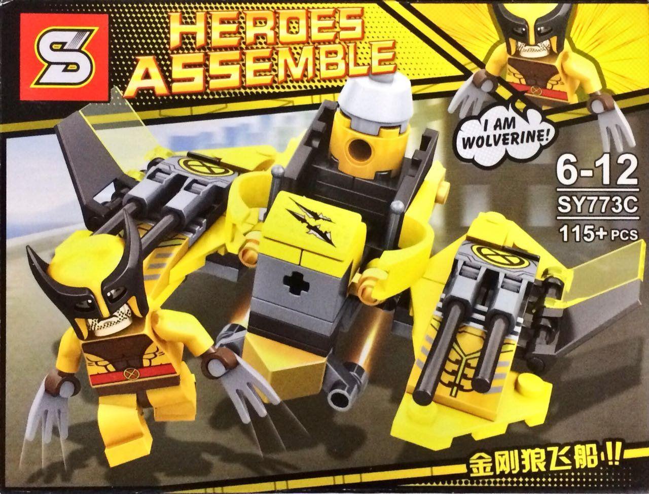 Bloco de Montar Heroes Assemble: Wolverine (SY773C) - (115 Peças)