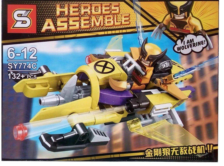 Bloco de Montar Heroes Assemble: Wolverine (SY774C) - (132 Peças)
