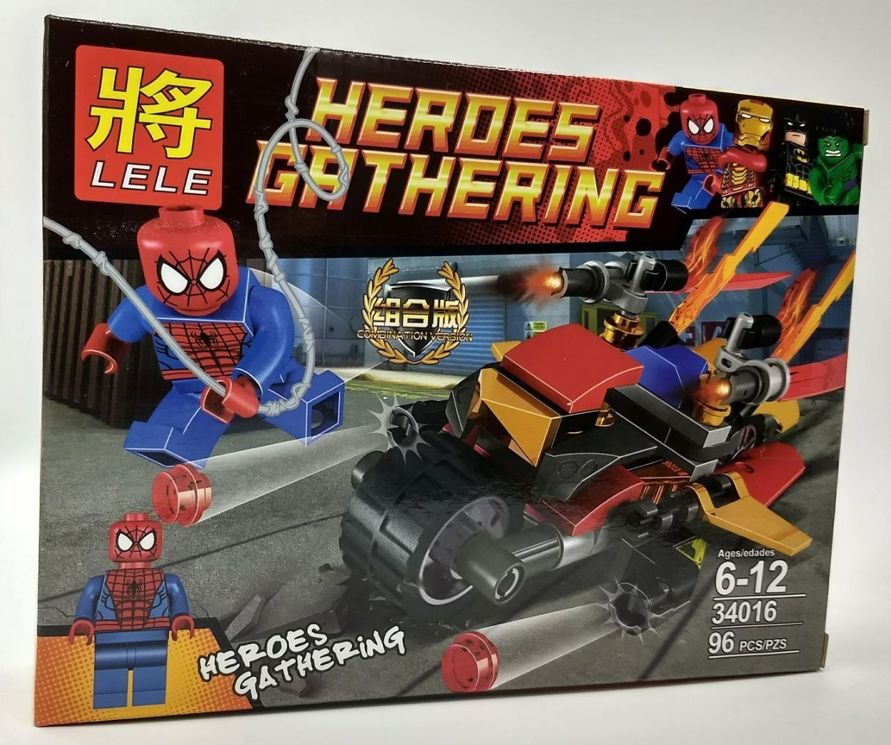 Bloco de Montar Heroes Gathering - Super-herói Aranha 96 pçs