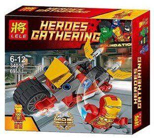 Bloco de Montar Heroes Gathering - Super-Herói Homem de Ferro 69 pçs