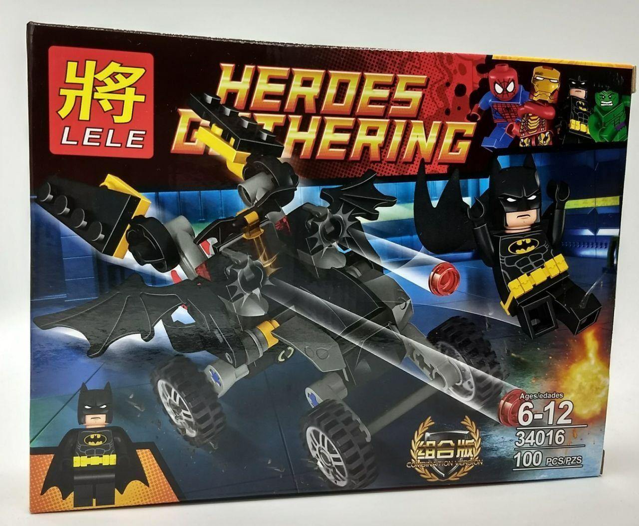 Bloco de Montar - Heroes Gathering - Super-herói Homem Morcego 100 pçs
