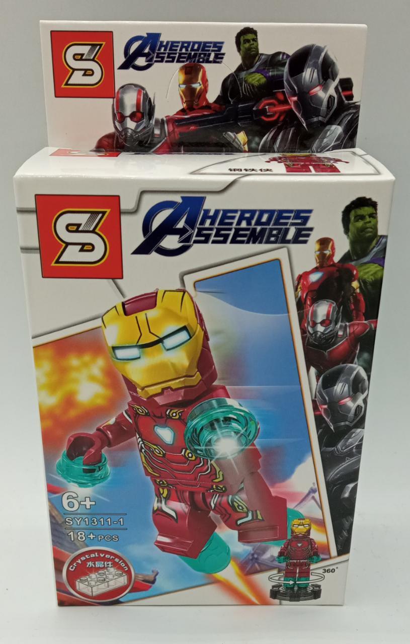 Bloco de Montar Homem de Ferro Mark 50 (Iron Man Mark 50): Vingadores Ultimato (SY1311-1) - (18 Peças)
