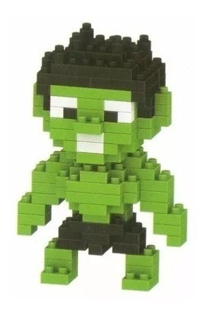 "Bloco De Montar ""Hulk"" - Marvel  (130pcs)"