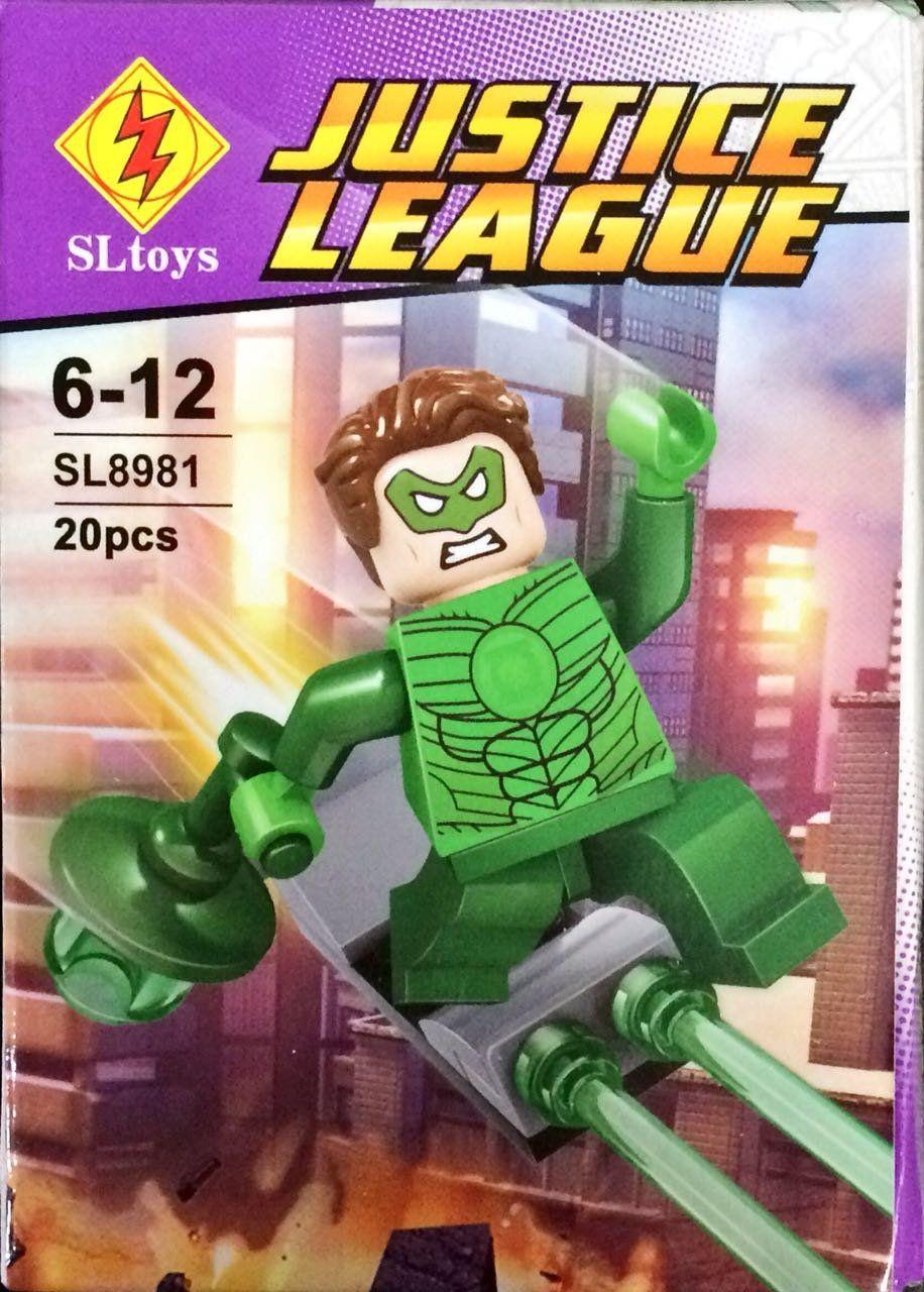 Bloco de Montar Lanterna Verde: Justice League (SL8981) - (20 Peças)