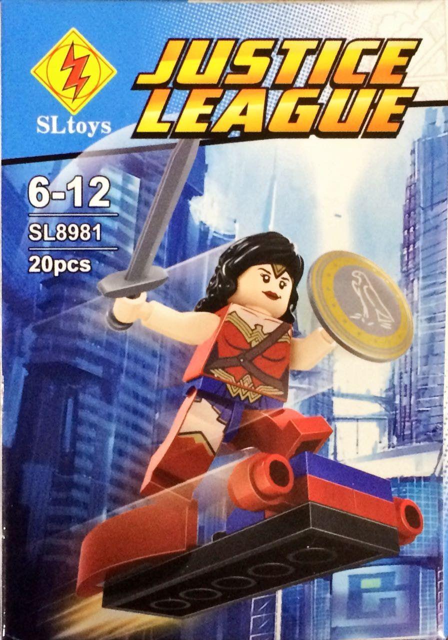 Bloco de Montar Mulher Maravilha: Justice League (SL8981) - (20 Peças)