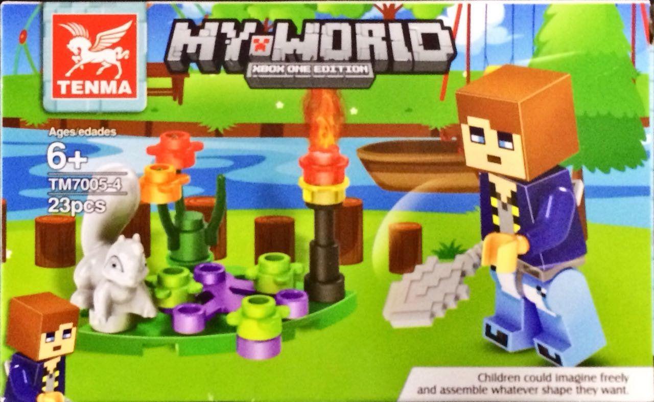 Bloco de Montar My World: Minecraft (TM7005-4) - (23 Peças)