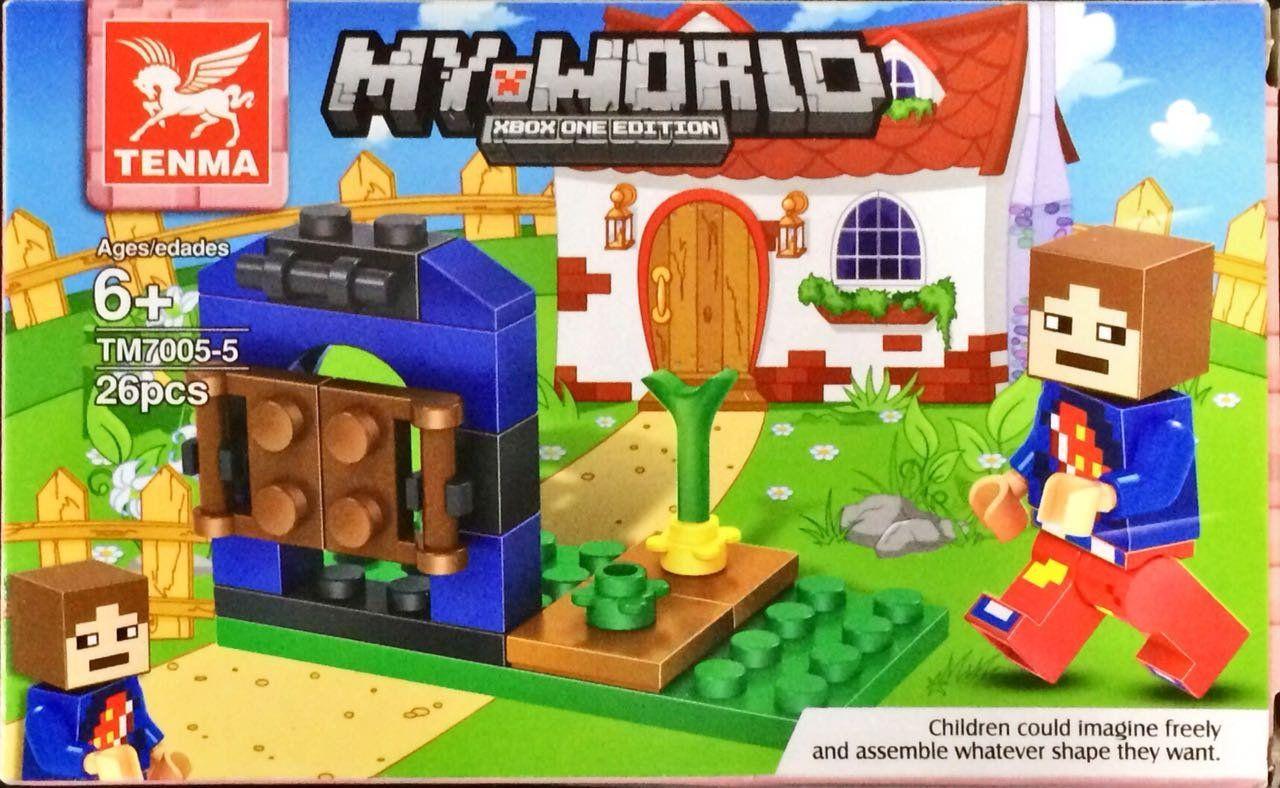 Bloco de Montar My World: Minecraft (TM7005-5) - (26 Peças)
