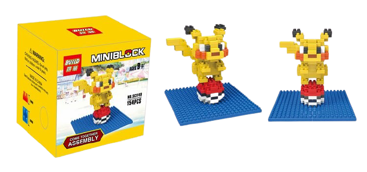 "Bloco De Montar ''Pikachu"" - Pokemon (154pcs)"