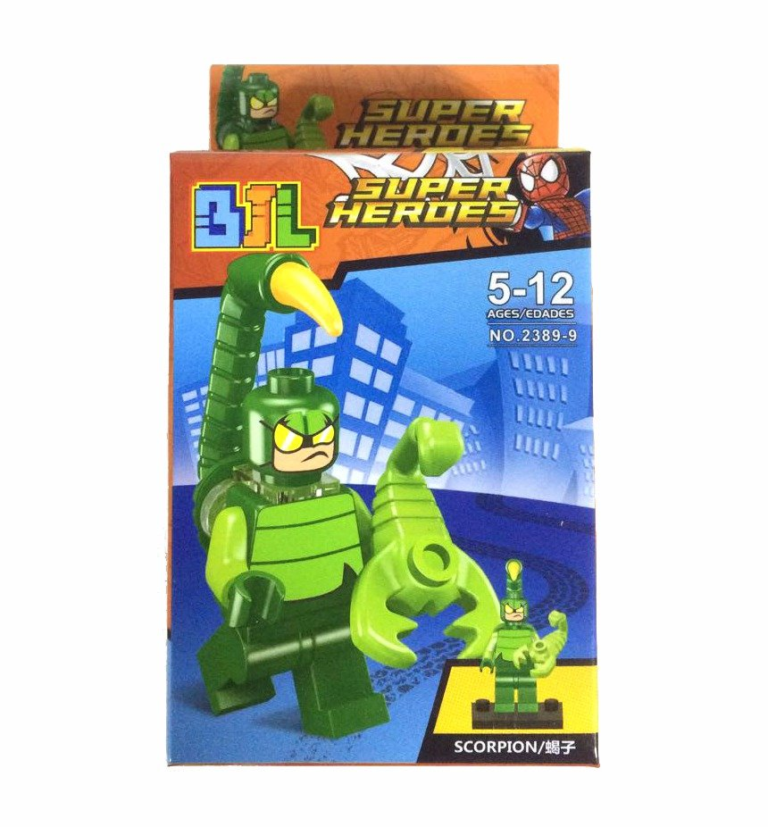 Bloco de Montar Super Heroes: Escorpião (Scorpion) Small Blocks