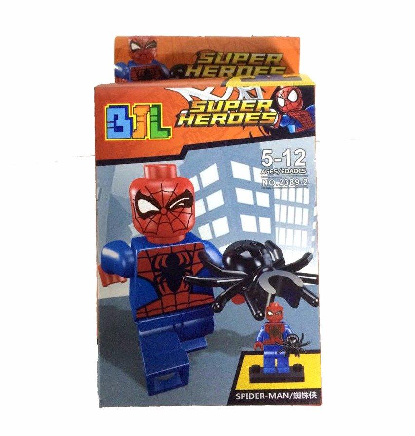 Bloco de Montar Super Heroes: Homem-Aranha (Spiderman) Small Blocks