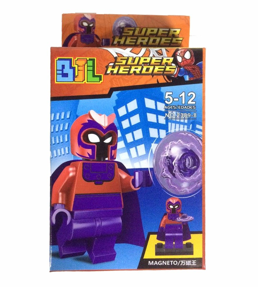 Bloco de Montar Super Heroes: Magneto Small Blocks