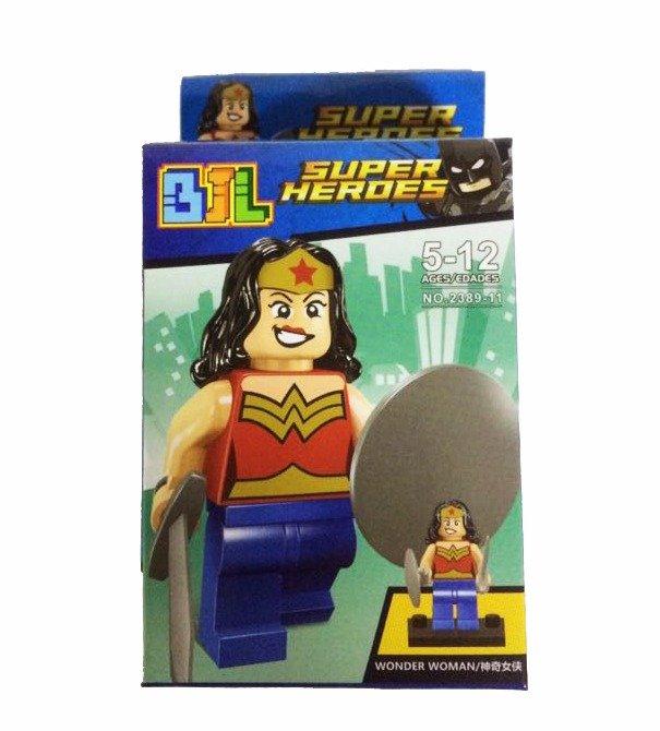Bloco de Montar Super Heroes: Mulher Maravilha (Wonder Woman) Small Blocks
