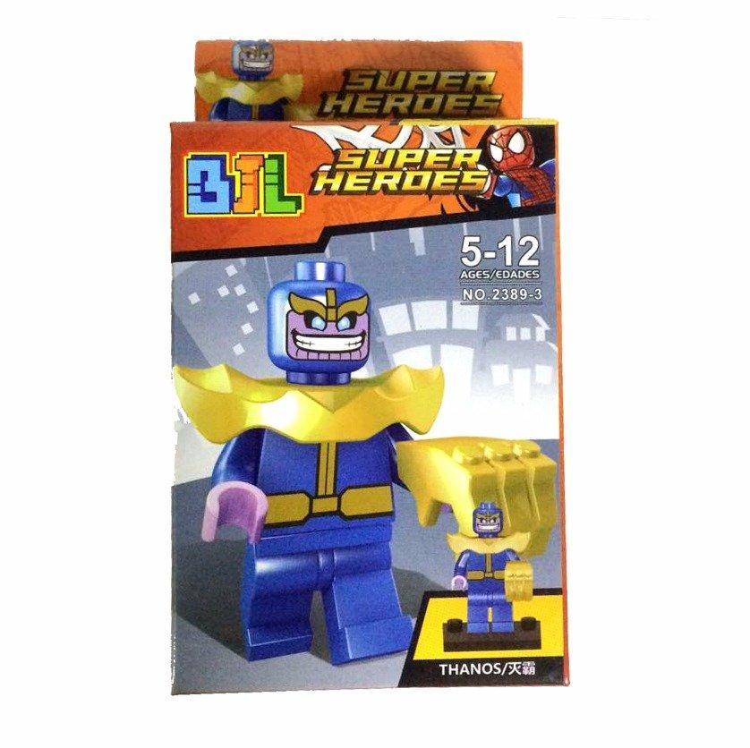 Bloco de Montar Super Heroes: Thanos Small Blocks
