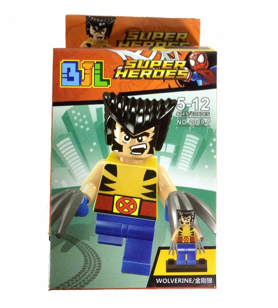 Bloco de Montar Super Heroes: Wolverine Small Blocks