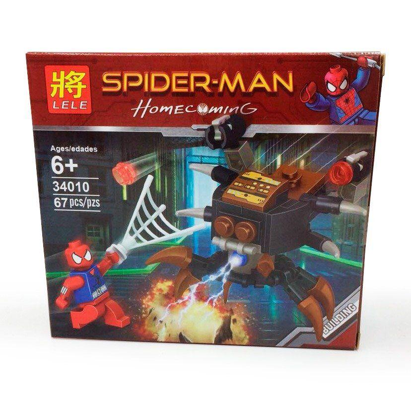 Bloco de Montar Super-Herói Aranha Escarlate - 67 pçs
