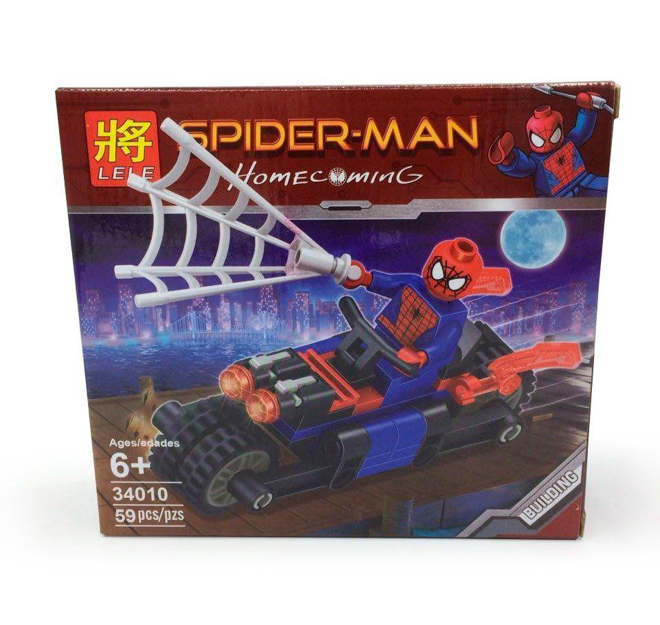 Bloco de Montar Super-Herói Homem Aranha - 59 pçs