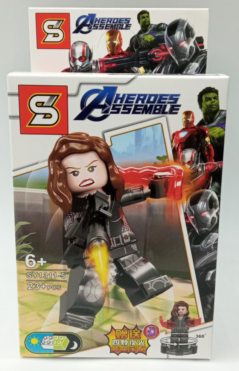 Bloco de Montar Viúva Negra (Black Widow): Vingadores Ultimato (SY1311-5) - (23 Peças)