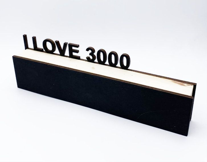 """Bloco Decorativo """"I Love 3000"""""""